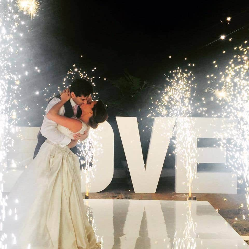 Jessica Ortner Wedding Fireworks