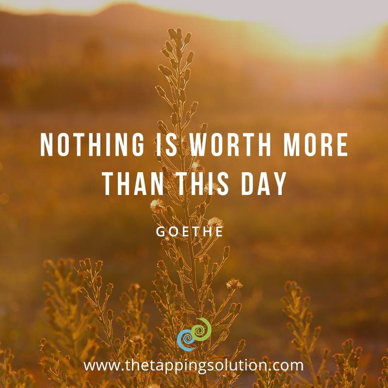 Nothing is worth more than this day. - Goethe